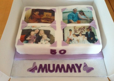 50th Photo Album cake