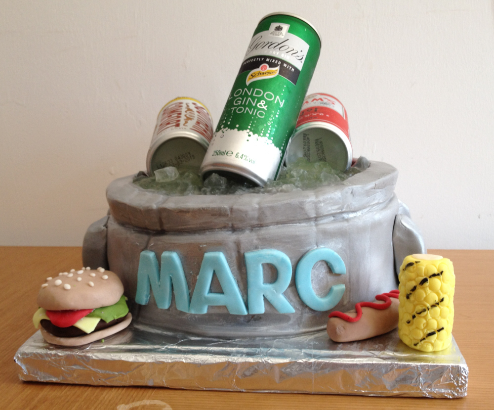 Ice cooler cake