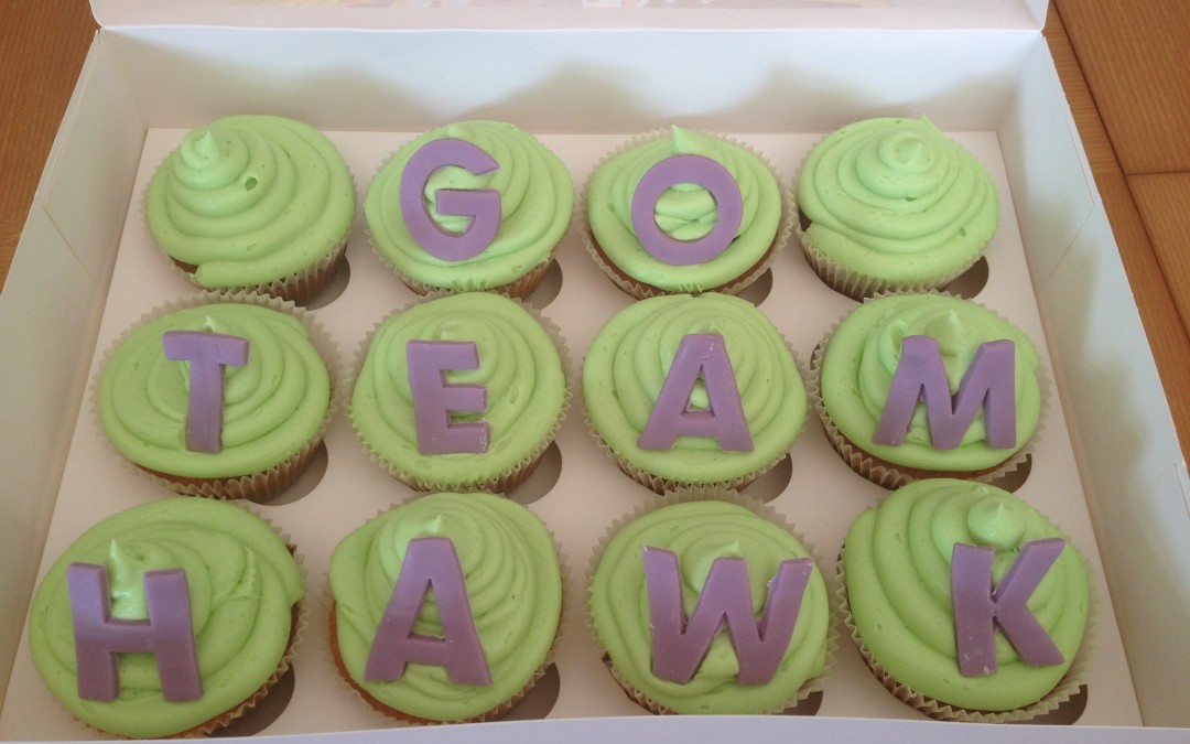 Sports day cupcakes