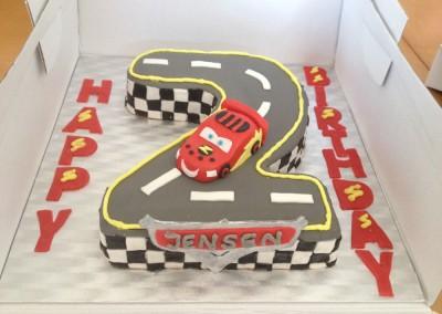 'Cars' Lightning McQueen cake
