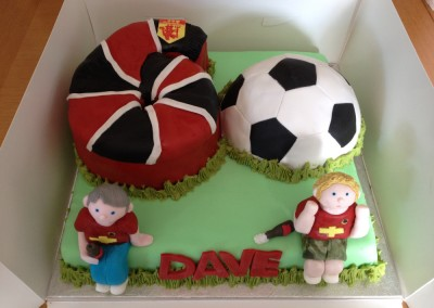 60th Manchester United football cake