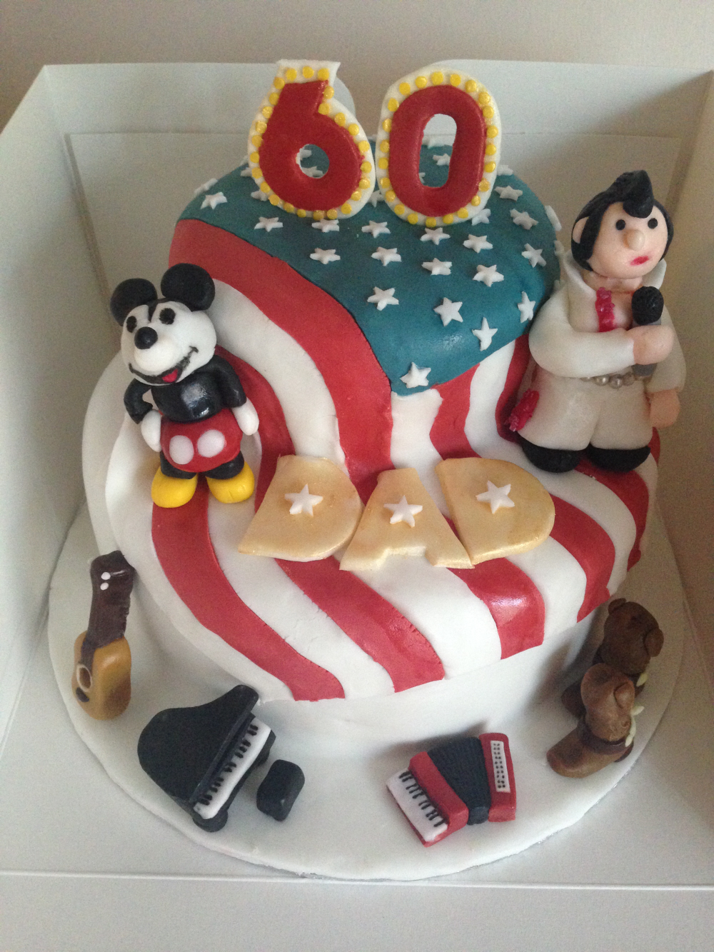 60th American themed cake