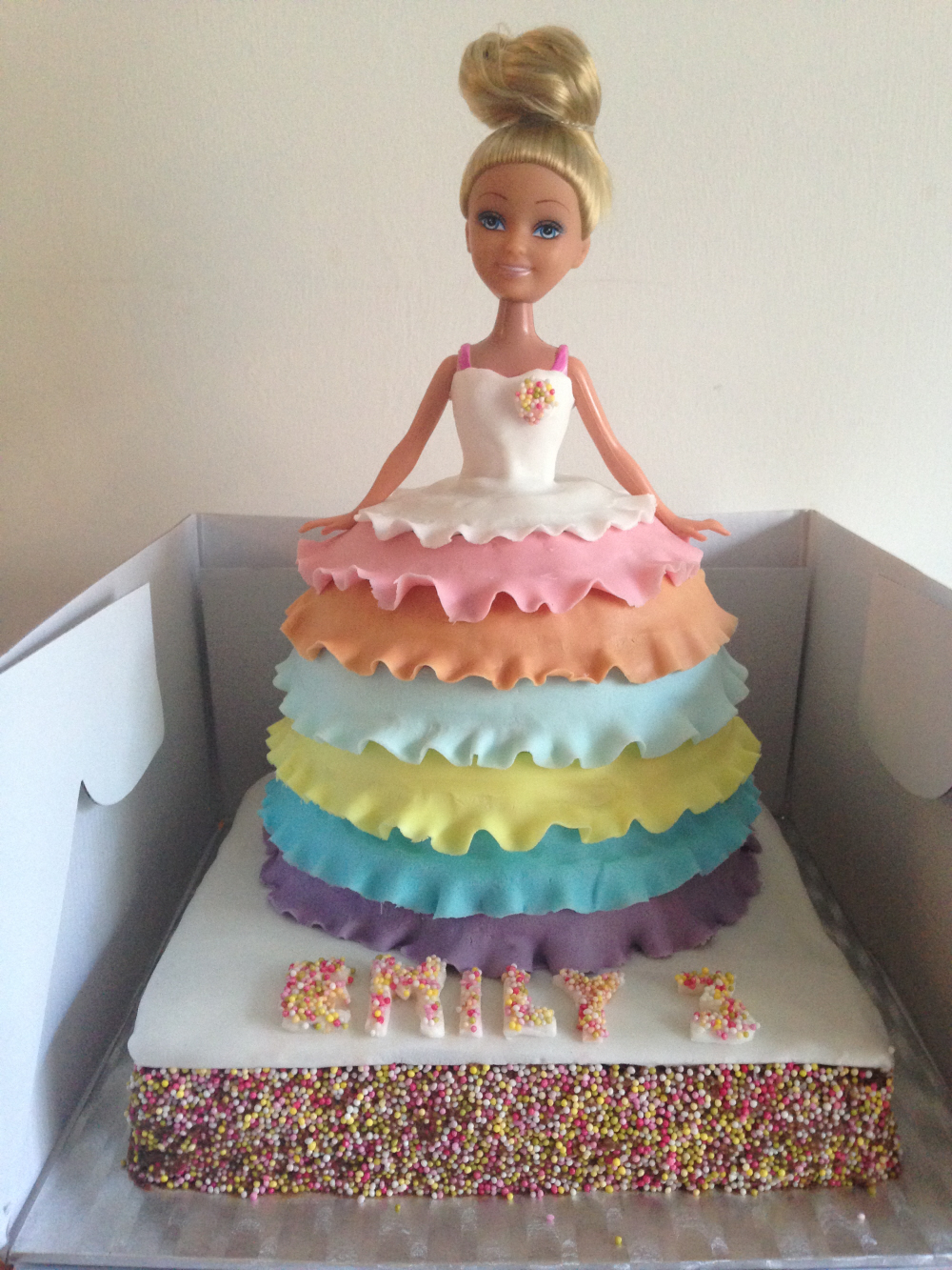 Barbie cake with pretty dress