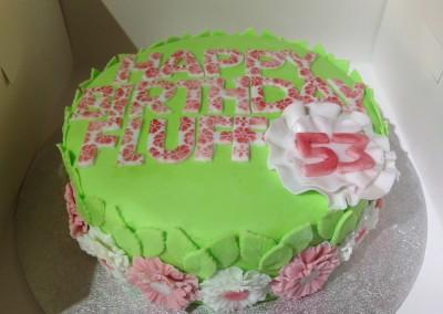 Flower themed cake