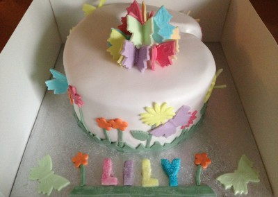 Number 6 Butterfly Cake