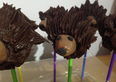 Hedgehog cakepops