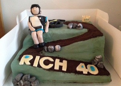 Mountain Bike 40th cake