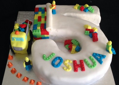 Lego 5th birthday cake