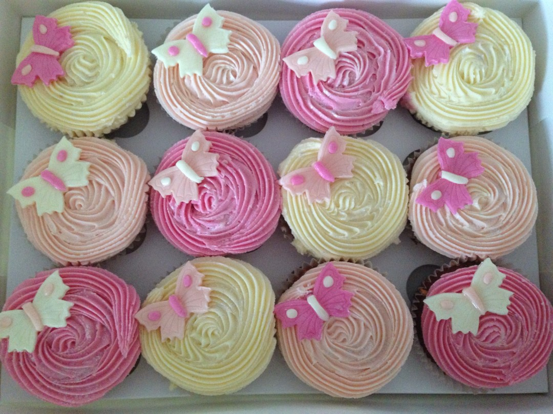 Pink Butterfly Cupcakes