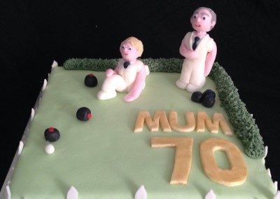 Bowls 70th birthday cake