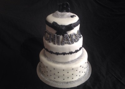 Black, White & Silver 18th Birthday