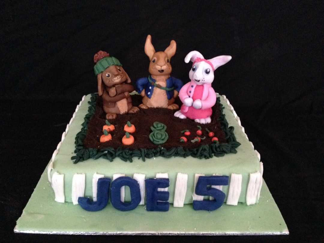 Peter rabbit TV show cake