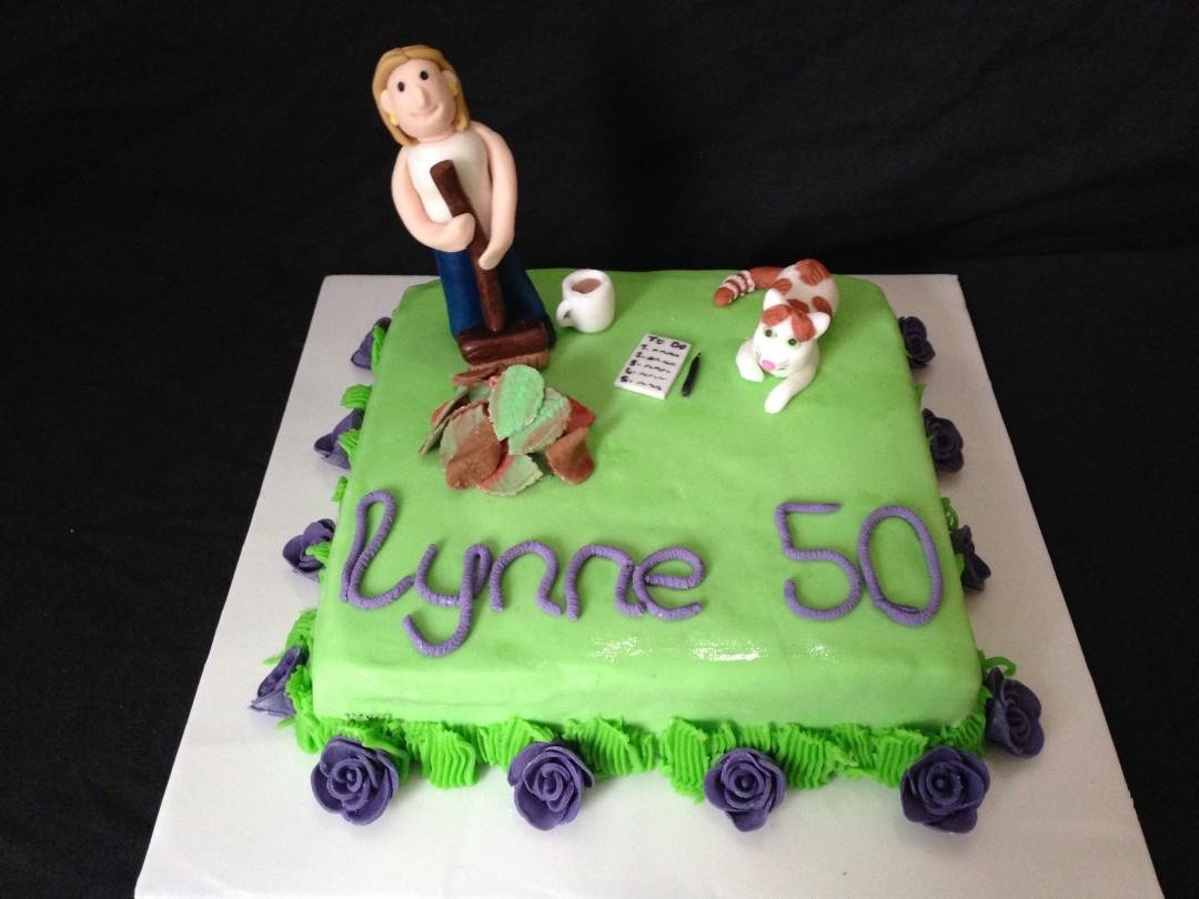 50th Garden Cake
