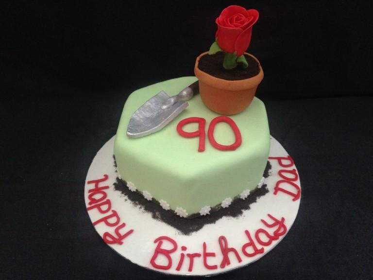 90th gardening cake