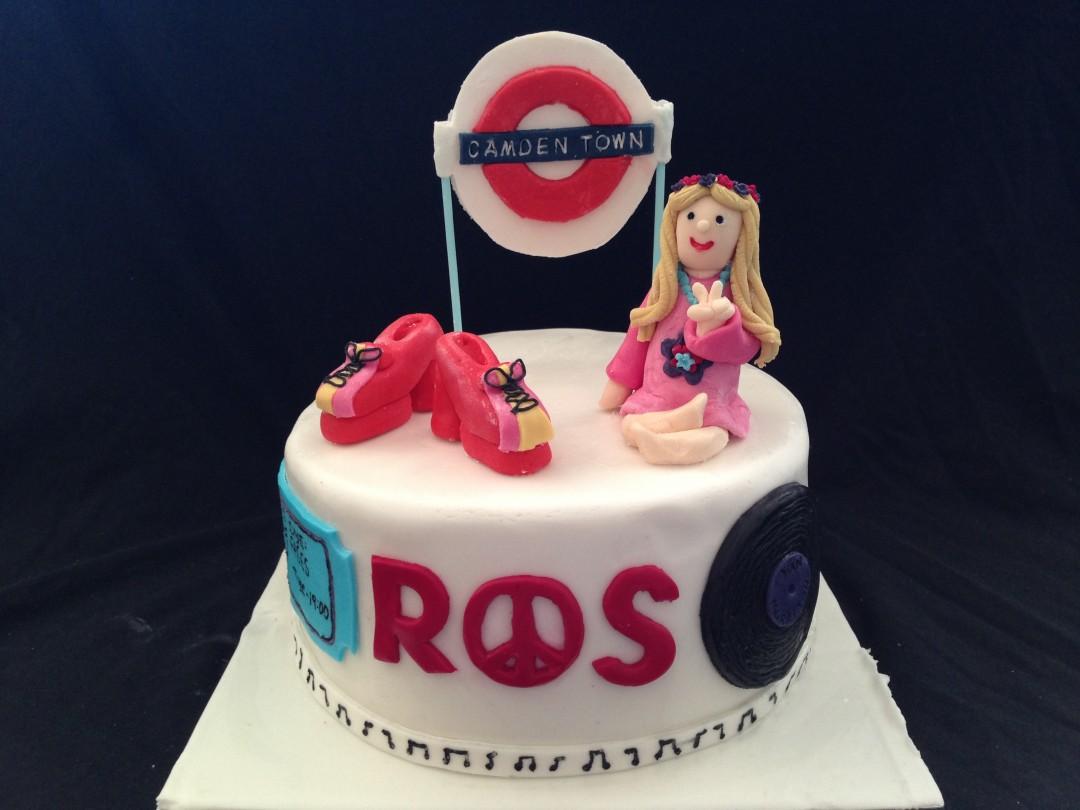 70's Birthday cake