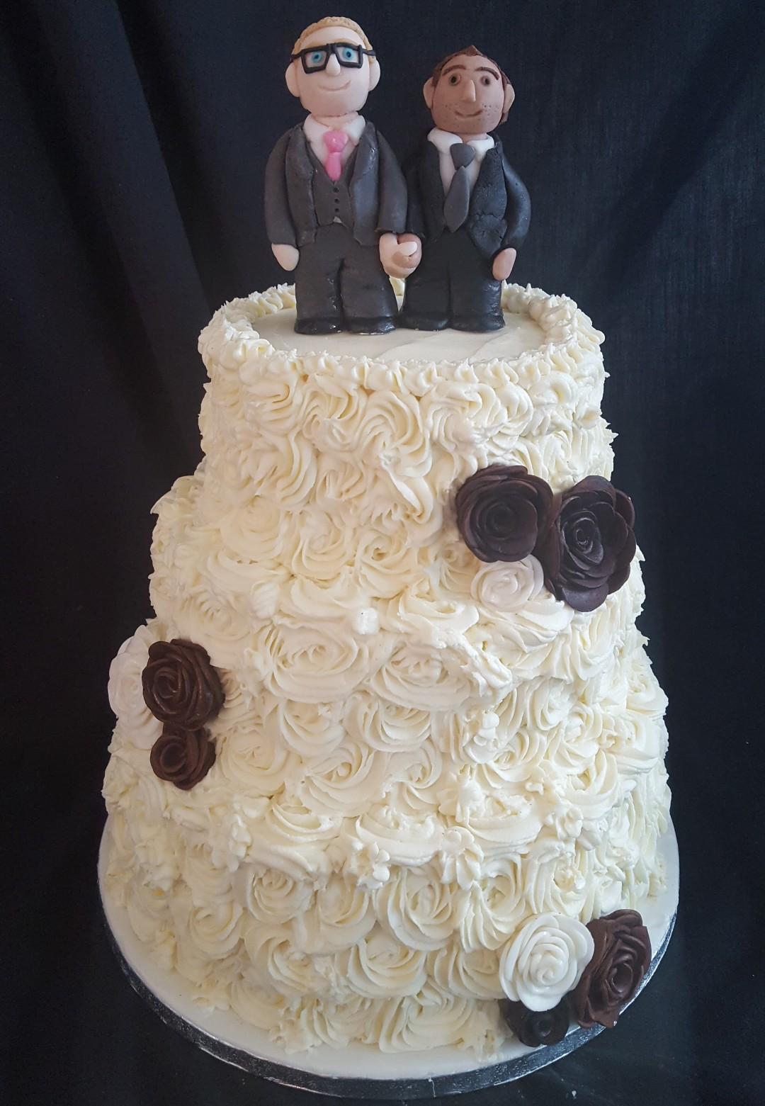 White chocolate wedding cake