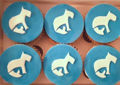Business logo cupcakes